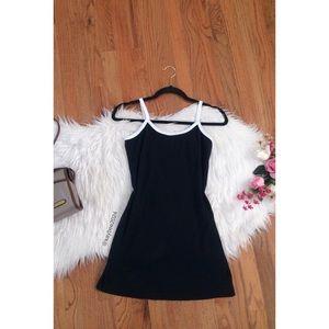 🌿 90's Vtg Contrast Petite Mini Dress 🌿